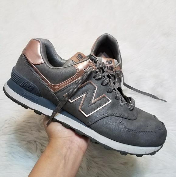 online store 60cb3 bc4ee Limited Edition New Balance 574 Rose Gold